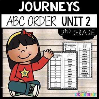 Reading Second Grade Unit 2 ~ ABC Order Cut and Paste