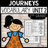 Journeys Vocabulary 2nd Grade Unit 2 with Animals Building Homes