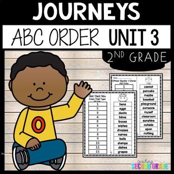 Journeys Second Grade Unit 3 Spelling