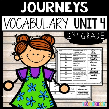 Journeys Second Grade Unit 4 ~ Vocabulary Words Cut and Paste