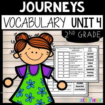 Journeys Reading Second Grade Unit 4 ~ Vocabulary Words Cu