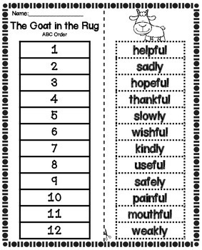 Reading Second Grade Unit 5 ~ ABC Order Cut and Paste