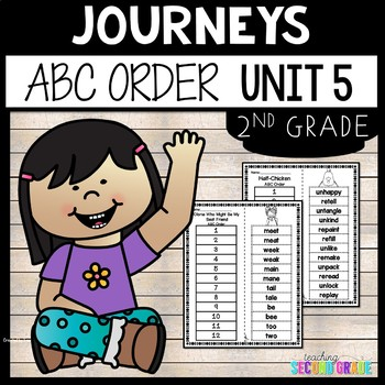 Journeys Reading Second Grade Unit 5 ~ ABC Order Cut and Paste
