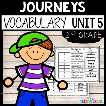 Journeys Second Grade Unit 5 ~ Vocabulary Words Cut and Paste