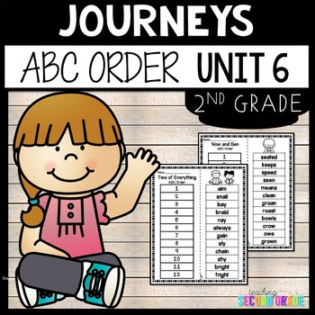 Journeys Second Grade Unit 6 ~ ABC Order Cut and Paste