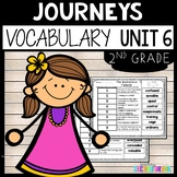 Journeys Second Grade Unit 6 ~ Vocabulary Words Cut and Paste