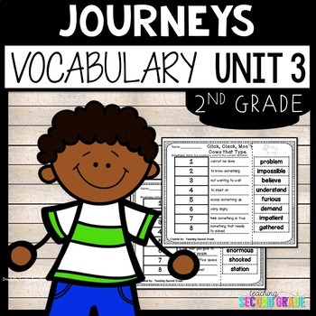 Reading Second Grade Unit 3 ~ Vocabulary Words Cut and Paste