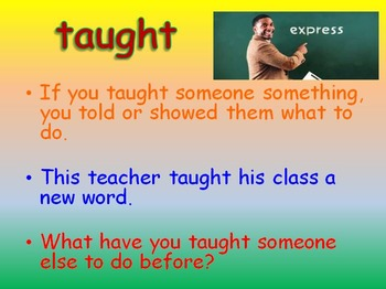 """Journeys 2nd Lesson 18 Vocab Intro PPT for """"My Name is Gabriela"""""""