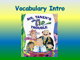 """Journeys 2nd Lesson 16 Vocab Intro PPT for """"Mr. Tanen's Tie Trouble"""""""