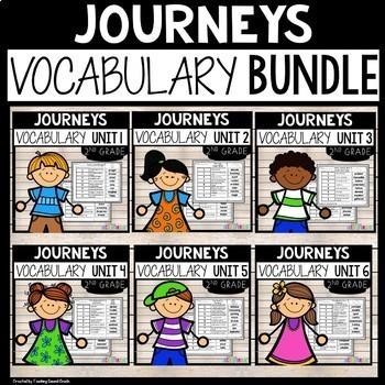 Journeys Second Grade Vocabulary Bundle