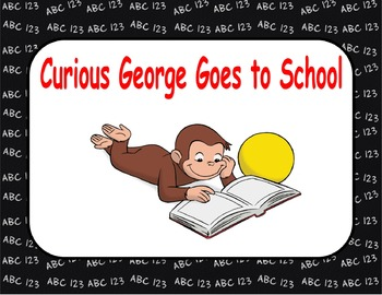 Journeys Reading Series Curious George Goes to School Focus Wall SmartBoard