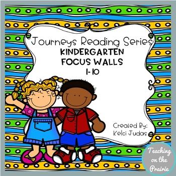 Journeys Reading Series Focus Walls 1-10 [Kindergarten]