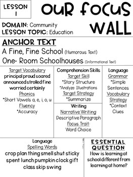 Journeys Reading Series Focus Walls 1-30 [Third Grade]