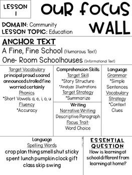 Journeys Reading Series Focus Walls 1-30 [Third Grade]