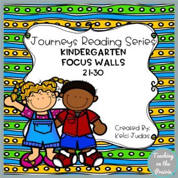 Journeys Reading Series Focus Walls 21-30 [Kindergarten]