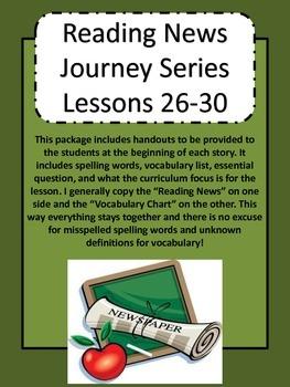 Journey's Reading Series Grade 5 Unit 6