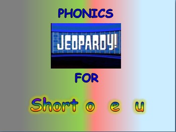 """Journeys 2nd Lesson 02 Jeopardy Phonics PPT for """"My Family"""""""