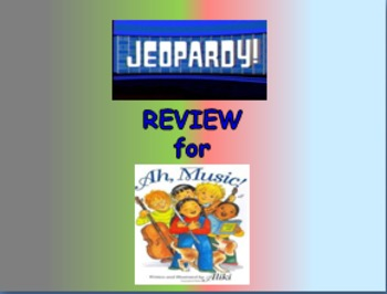 """Journeys 2nd Lesson 12 Jeopardy Review PPT for """"Ah, Music!"""""""