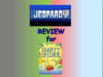 "Journeys 2nd Lesson 04 Jeopardy Review PPT for ""Diary of a Spider"""