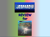 "Journeys 2nd Lesson 08 Jeopardy Review PPT for ""Super Storms"""