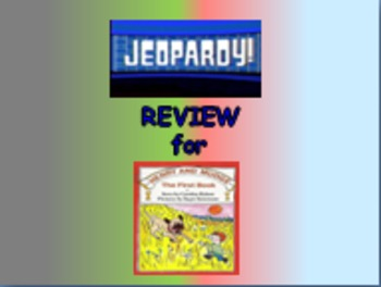 """Journeys 2nd Lesson 01 Jeopardy Review PPT for """"Henry and Mudge"""""""
