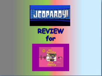 "Journeys 2nd Lesson 02 Jeopardy Review PPT for ""My Family"""