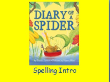 "Journeys 2nd Lesson 04 Spelling Intro PPT for ""Diary of a Spider"""
