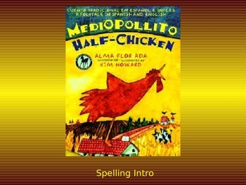 """Journeys 2nd Lesson 24 Spelling Intro PPT for """"Half-Chicken"""""""