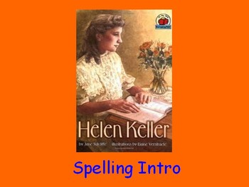 "Journeys 2nd Lesson 14 Spelling Intro PPT for ""Helen Keller"""