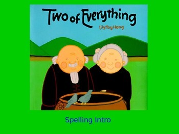 "Journeys 2nd Lesson 29 Spelling Intro PPT for ""Two of Everything"""