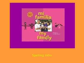 """Journeys 2nd Lesson 02 Spelling Intro PPT for """"My Family"""""""