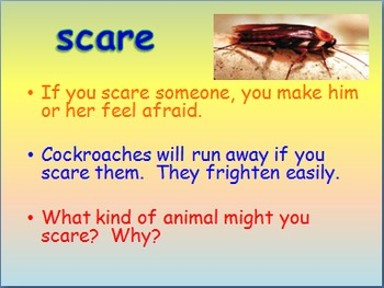 """Journeys 2nd Lesson 04 Vocab Intro PPT for """"Diary of a Spider"""""""