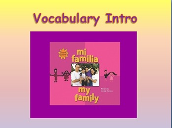 "Journeys 2nd Lesson 02 Vocab Intro PPT for ""My Family"""