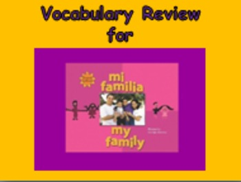 "Journeys 2nd Lesson 02 Vocab Review PPT for ""My Family"""