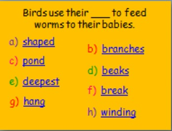 """Journeys 2nd Lesson 06 Vocab Review PPT for """"Animals Building Homes"""""""