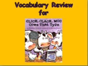 "Journeys 2nd Lesson 11 Vocab Review PPT for ""Click, Clack,"