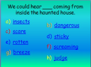 """Journeys 2nd Lesson 04 Vocab Review PPT for """"Diary of a Spider"""""""