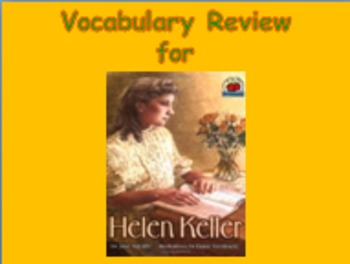 "Journeys 2nd Lesson 14 Vocab Review PPT for ""Helen Keller"""