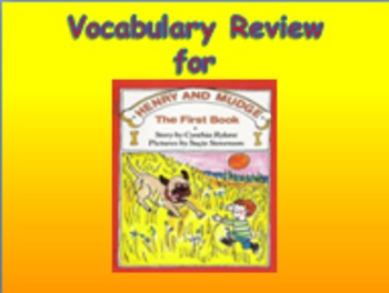 "Journeys 2nd Lesson 01 Vocab Review PPT for ""Henry and Mudge"""