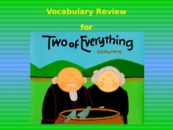 "Journeys 2nd Lesson 29 Vocab Review PPT for ""Two of Everything"""