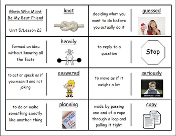 """Journeys 2nd Lesson 11 Vocabulary Dominoes for """"Click, Cla"""