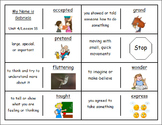 """Journeys 2nd Lesson 18 Vocabulary Dominoes for """"My Name is Gabriela"""""""