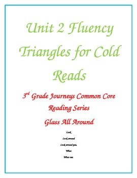 Journeys Reading Series Unit 2 Fluency Review for all Cold Reads