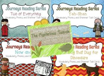 Journeys Reading Series Unit Six Task Card Bundle