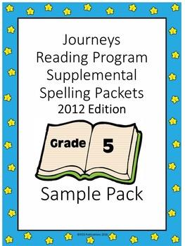 Journeys Reading Supplemental Spelling Work Grade 5 Sample