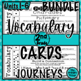 Journeys SECOND GRADE Roll and Respond Vocabulary Cards: T