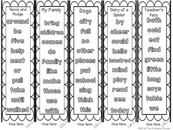 Journeys SECOND Grade Sight Word Bracelets/Bookmarks: Unit ONE