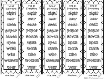 Journeys SECOND Grade  Sight Word Bracelets/Bookmarks: Unit SIX