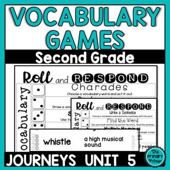 Journeys SECOND Grade Vocabulary Cards:  Unit FIVE