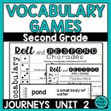 Journeys SECOND Grade Roll and Respond Vocabulary Cards: